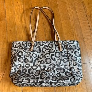 Guess Snow Leopard Tote